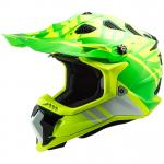 Casque cross LS2 MX700 - SUBVERTER EVO - GAMMAX H-V YELLOW GREEN 2021