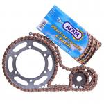 Kit chaine AFAM  420 Type Alu Special Anti Boue