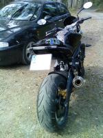 Support de plaque   kit reglable AEROLED Street Triple 675   R  2007 2012